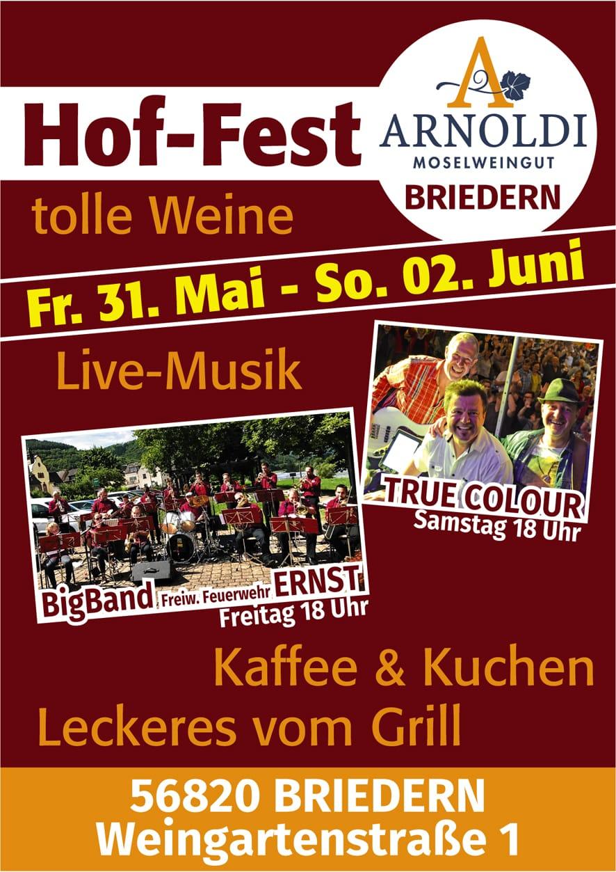 Hoffest 31.05.2019 – 02.06.2019 mit Livemusik